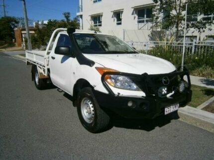 2012 Mazda BT-50 B32P XT White 6 SPEED Manual Cab Chassis Redcliffe Redcliffe Area Preview