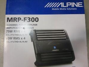 Alpine  mrp-f300 4 channel 300 watt Car Amplifier -New in box