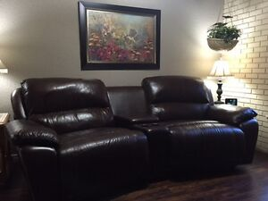 Leather Reclining Theatre Seats