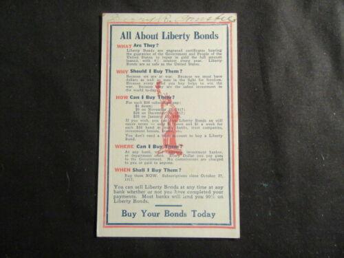 All About Liberty Bonds Postcard  1917    TH5