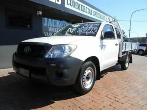 2010 Toyota Hilux TGN16R 09 Upgrade Workmate White 5 Speed Manual Cab Chassis Croydon Burwood Area Preview