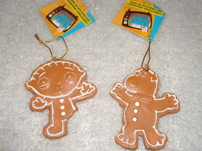 HTF NEW Family Guy Christmas Ornament Cookie Cut Outs Brian & Stewie  ()