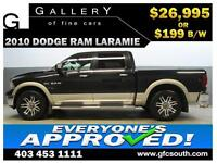 2010 DODGE RAM LARAMIE CREW *EVERYONE APPROVED* $0 DOWN $199/BW