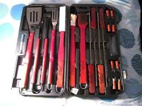 PRIMA BARBECUE TOOLS SET NICE WOOD HQ NEW IN BOX. *NO TEXTS PLEASE*