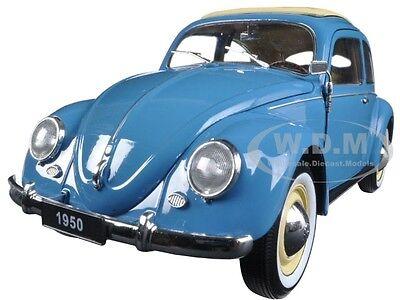 1950 VOLKSWAGEN CLASSIC OLD BEETLE SPLIT WINDOW BLUE 1/18 BY WELLY 18040