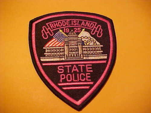 RHODE ISLAND STATE POLICE  BREAST CANCER POLICE PATCH SHOULDER SIZE NEW PINK