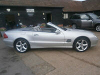 0303 MERCEDES-BENZ SL350 3.7 1 OWNER 67K FSH PANORAMIC GLASS ROOF AMAZING COND.