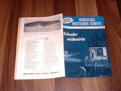 """SOS # 35 -- SEHROHR SÜDWÄRTS // """" U 69 """"  Moewig Verlag 1954"""