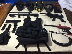 Paintball Equipment: Tippmann Markers, vests, and accessories