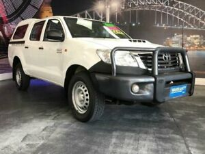 2014 Toyota Hilux KUN26R MY14 SR White Automatic Utility Prospect Blacktown Area Preview