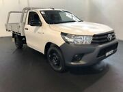 2016 Toyota Hilux TGN121R Workmate White 5 Speed Manual Cab Chassis Clemton Park Canterbury Area Preview