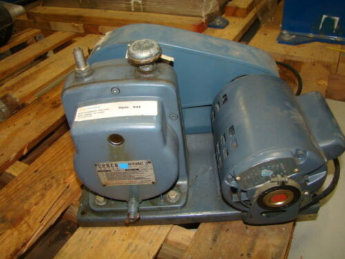 Cenco Hyvac 2 Vacuum Pump w/ GE Motor 5KC35KG198, 1/4 HP, 1725 RPM