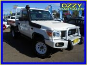 2013 Toyota Landcruiser VDJ79R MY12 Update Workmate (4x4) White 5 Speed Manual Cab Chassis Penrith Penrith Area Preview
