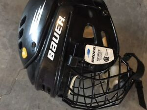 Bauer helmet and face cage