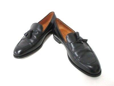 Auth JOHNLOBB Black Leather Shoes Men
