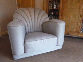 Art Deco circa 1920/30s Shellback Armchair