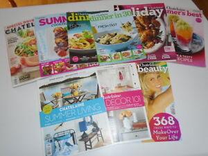 11 magasines hors série de Chatelaine: cuisine et décoration