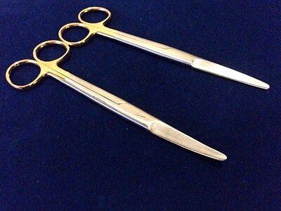 2 Tc Mayo Surgical Scissors 6.75 Straightcurved Tip W Tungsten Carbide Insrt