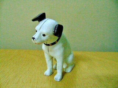 """Nipper RCA Dog Cast Iron bank door stop 6"""" terrier figure Victrola Terrier"""
