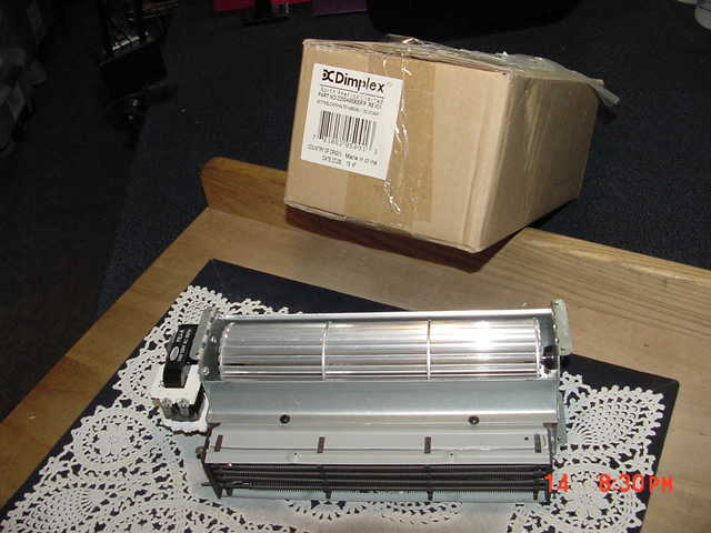 Dimplex 2200490800RP REV1 Blower Heater Assembly 120V-DF34047, New Old Stock!