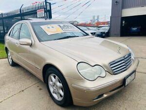 2002 Mercedes-Benz C200 W203 Kompressor Elegance Gold 5 Speed Automatic Sedan Brooklyn Brimbank Area Preview