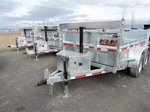 Galvanized Dump Trailer 6'X10'  6'X12' 10K