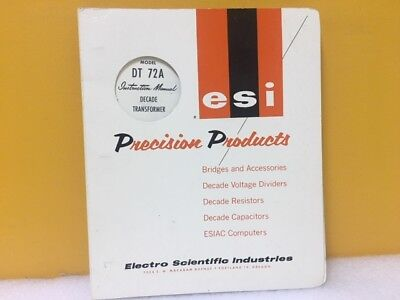 Esi Dt 72a Instruction Manual Decade Transformer