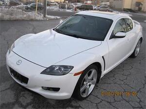 2005 MAZDA RX8 LIKE NEW COND, WHITE ON BLACK LEATHER INT,