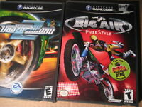 nintendo gamecube games: (1) big air free style. T. $12 (2) need
