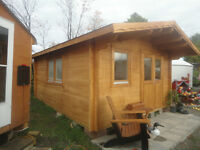 Do It Your Self 13'x21' Log Bunkie /Cabin /shed