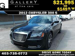 2012 Chrysler 300S $149 bi-weekly APPLY NOW DRIVE NOW