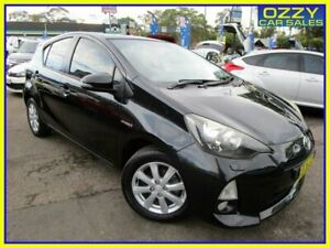 2012 Toyota Prius c NHP10R Hybrid Black Continuous Variable Hatchback Penrith Penrith Area Preview