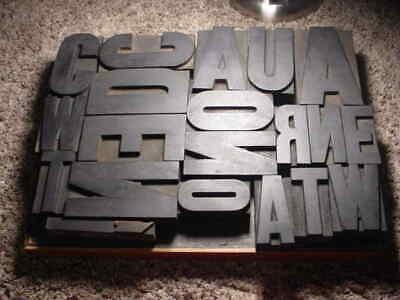 Large Group 4 2 12 3 38 Antique Wood Letterpress Print Type Letters