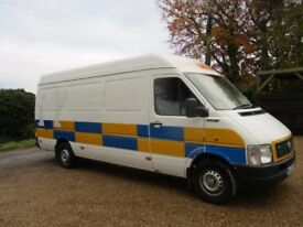 vw lt 35 sprinter lwb 2.5 tdi one owner 14 years. full mot. nice cab. drives lovely. scruffy body.