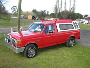 1989 Ford F150 XLT Red 3 Speed Automatic Utility Camden Camden Area Preview