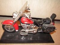 Red Harley Davidson Heritage Soft Tail Motorcycle telephone.