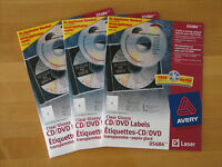 Avery 05684 Clear Glossy CD/DVD Laser Labels