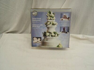 Wilton Tiered Floral Centerpiece for Fresh or Silk Flowers 3 Tiers NIB