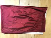 Red 100% Silk Curtains x 2 Pairs