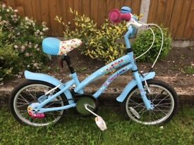 Childs bike (girls) for sale. 3 years old, blue good condition