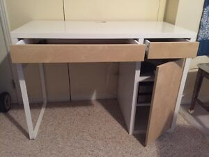 ikea desk + bent wooden desk chair