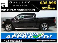 2012 DODGE RAM SPORT CREW *EVERYONE APPROVED* $0 DOWN $219/BW!