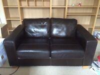 John Lewis - 2 Seater Leather Sofo