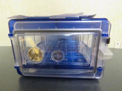 Secador 1.0 Desiccator Horizontal Blue Hygrometer W Clear Door Uv Protection