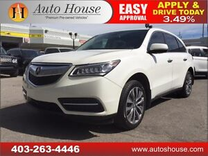 2014 Acura MDX Tech-Pkg NAVI, BCAM, ROOF, 7 PASS 90 DAYS NO PYMT