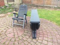 Large Garden Table Set