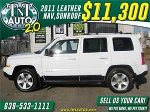 2011 Jeep Patriot LIMITED-HEATED LEATHER-SUNROOF-NAV! APPLY NOW!