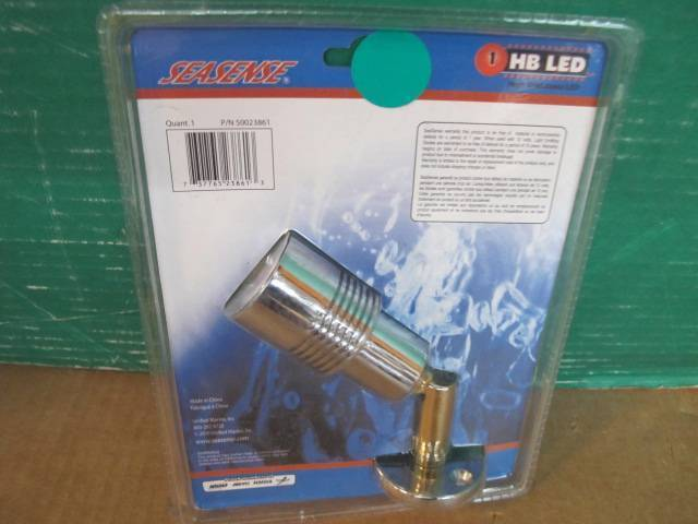SEASENSE 50023861 LED CABIN SPOT READING LIGHT BRASS CONSTRUCTION 12V MSRP $89