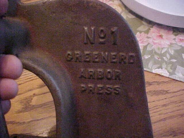 Greenerd No1 Arbor Press 1/4 ton manual press rack & pinion bench press FREE Shp