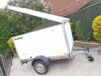 Brenderup 2205 trailer + lift up top/spare wheel